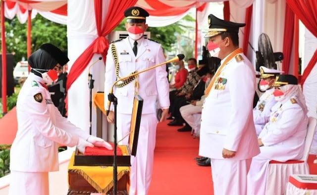 Gubernur Kepri Memimpin Upacara Bendera Peringatan HUT Ke 76 Kemerdekaan RI
