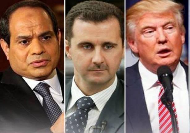 ترامب للسيسي: الأسد رئيس شجاع
