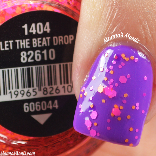 China Glaze Electric Nights Let the Beat Drop swatches