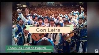 TODOS los finales CON LETRA de todos los popurris de las chirigotas de LOS MOLINAS (2013-2020)