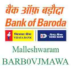 Vijaya Baroda Bank Malleshwaram Branch New IFSC, MICR