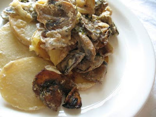 Scalloped Potatoes with Best Ever Mushroom Sauce