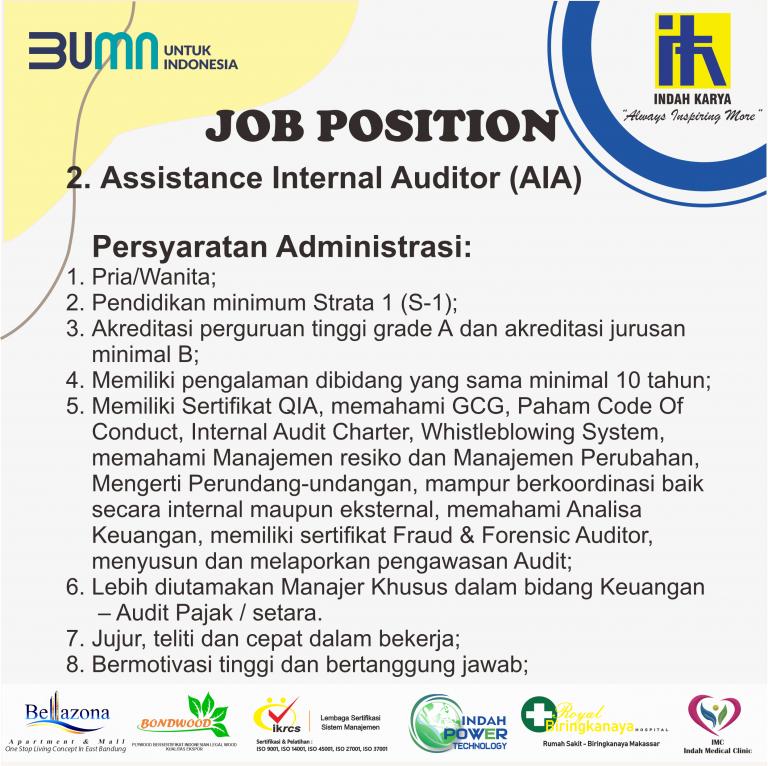 Lowongan Kerja BUMN PT Indah Karya September 2020