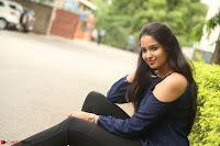 Poojita Super Cute Smile in Blue Top black Trousers at Darsakudu press meet ~ Celebrities Galleries 081.JPG