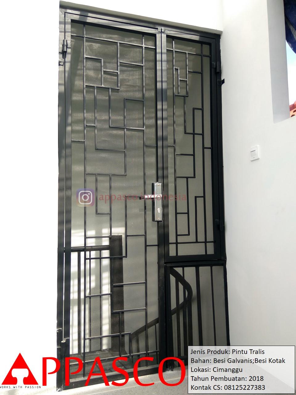 Pintu Besi Teralis Galvanis Siku dan Kotak di Cimanggu