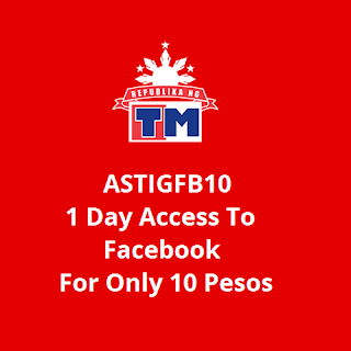 ASTIGFB10 : 1 Day Access To Facebook For Only 10 Pesos