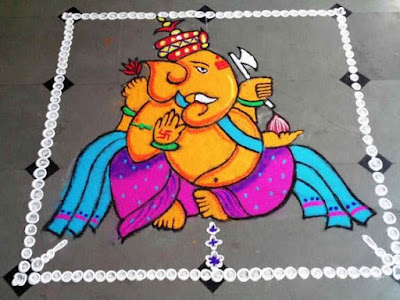 Ganpati Rangoli Design Images for New Year
