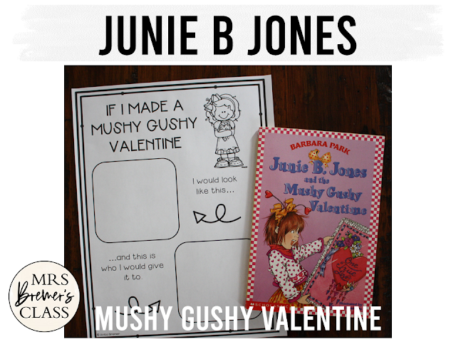 Junie B Jones and the Mushy Gushy Valentine book study companion activities for First Grade and Second Grade common core aligned standards based unit