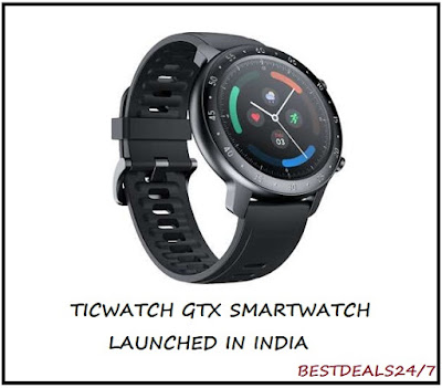 TicWatch GTX Smartwarch Launched in India