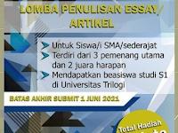 [GRATIS] Lomba Menulis Artikel Nasional 2021 di Universitas Trilogi