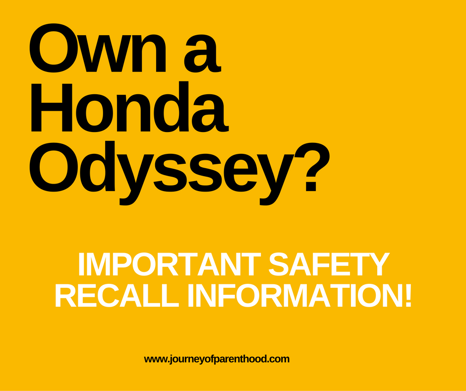 Important Recall for Honda Odyssey Owners!