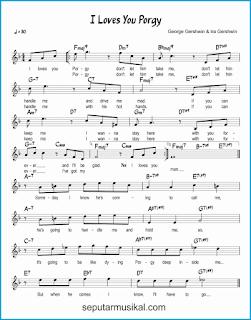 chord i loves you porgy lagu jazz standar