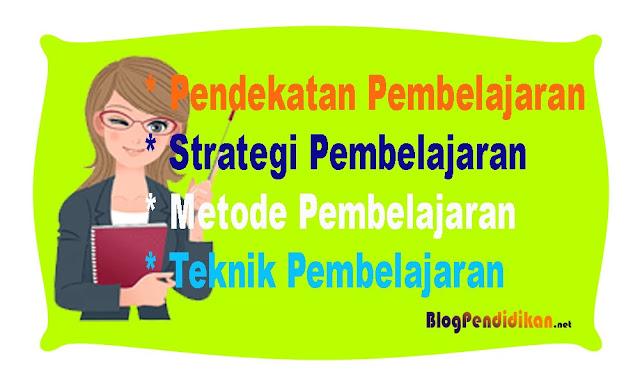 Mengenal dan Membedakan Istilah Pendekatan, Strategi, Metode, Teknik Dan Model Dalam Pembelajaran
