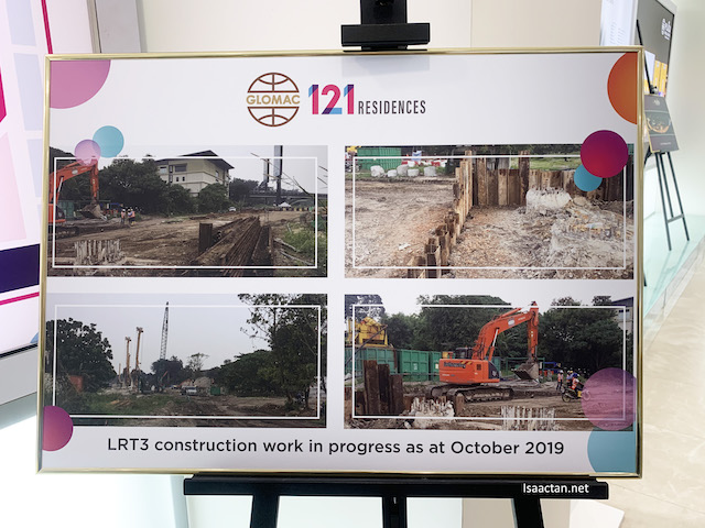 The LRT3 is nearby, undergoing construction now