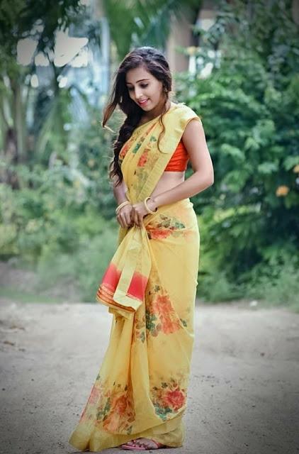 Indian Model Latest Hot Stills In Saree https://www.actressbuzz.com