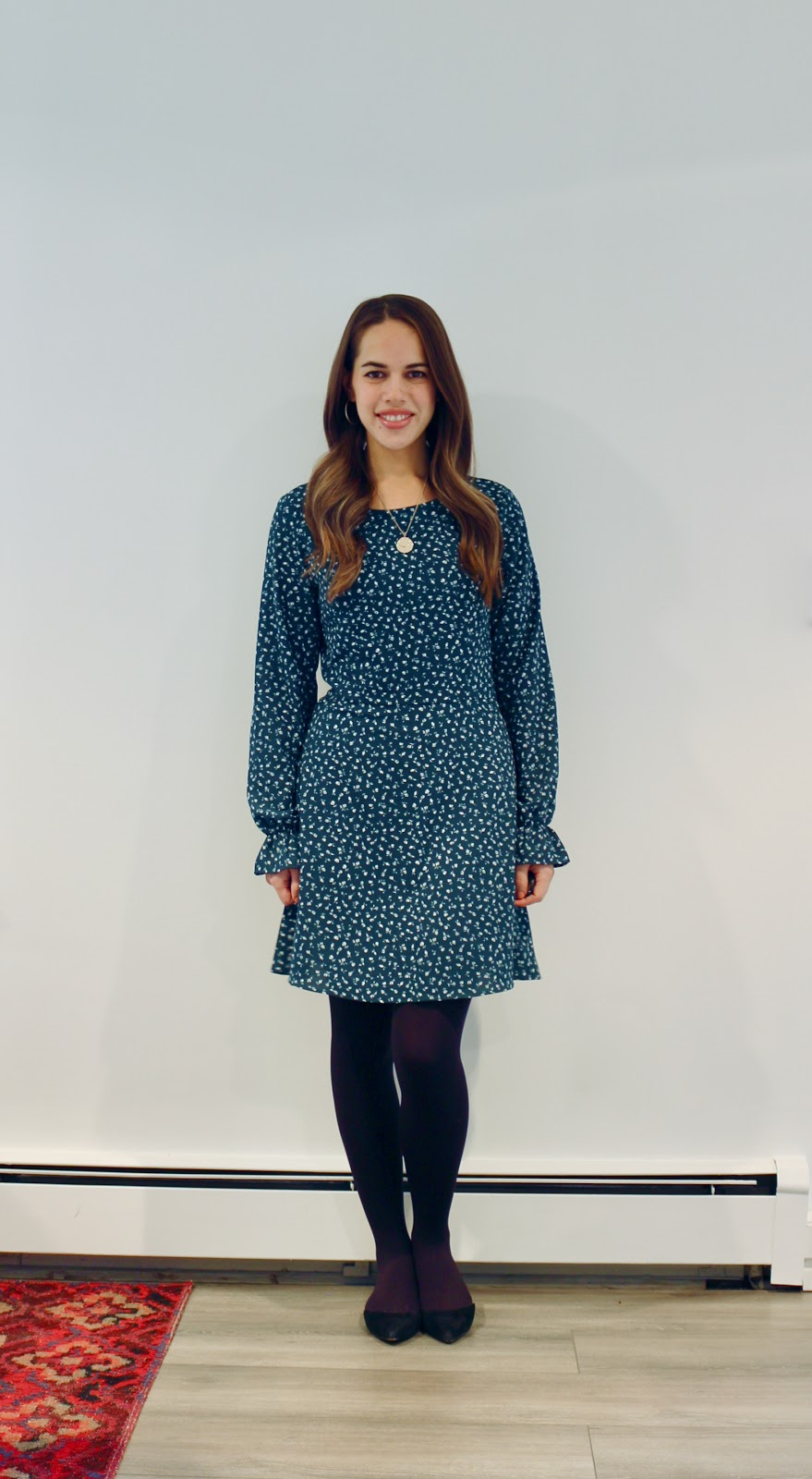 Jules in Flats - H&M Creped Dress (Business Casual Fall Workwear on a Budget)