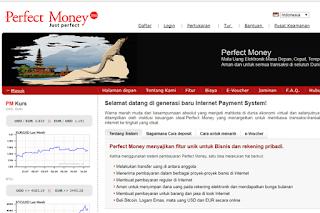 Perfect Money Daftar Sistem & Alat Pembayaran Online Terpercaya