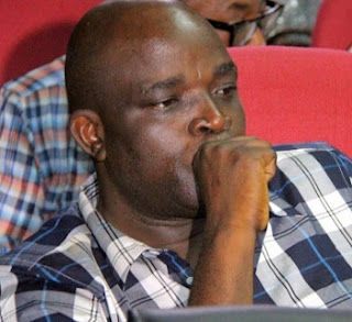 The Sad Face Of Fayose's Aide, Agbele As He Was Docked Ysterday