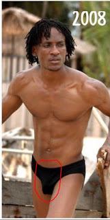 Rare Photos Of Omashola Wearing A Black Pant, His Big Prick Is A Must See!!