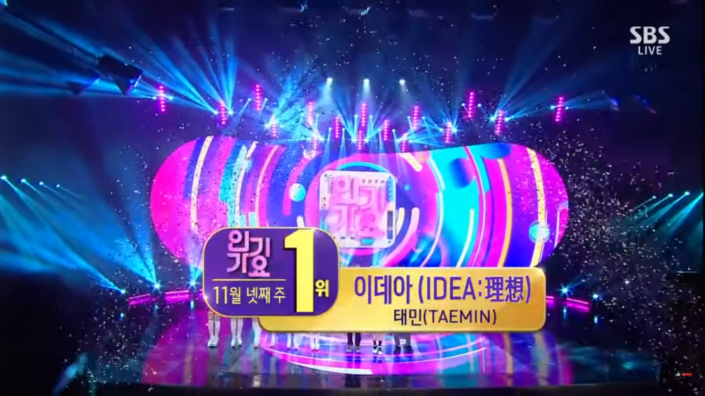 SHINee's Taemin Wins The 1st Trophy for 'IDEA' on 'Inkigayo'