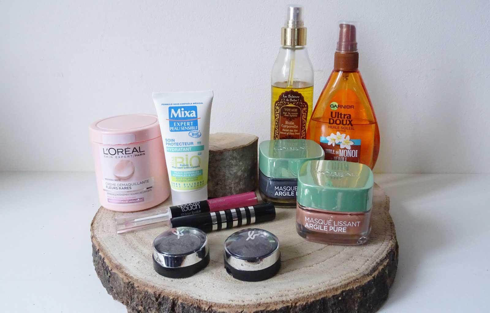 projet 10 pan 2020 produits maquillage et soin à finir
