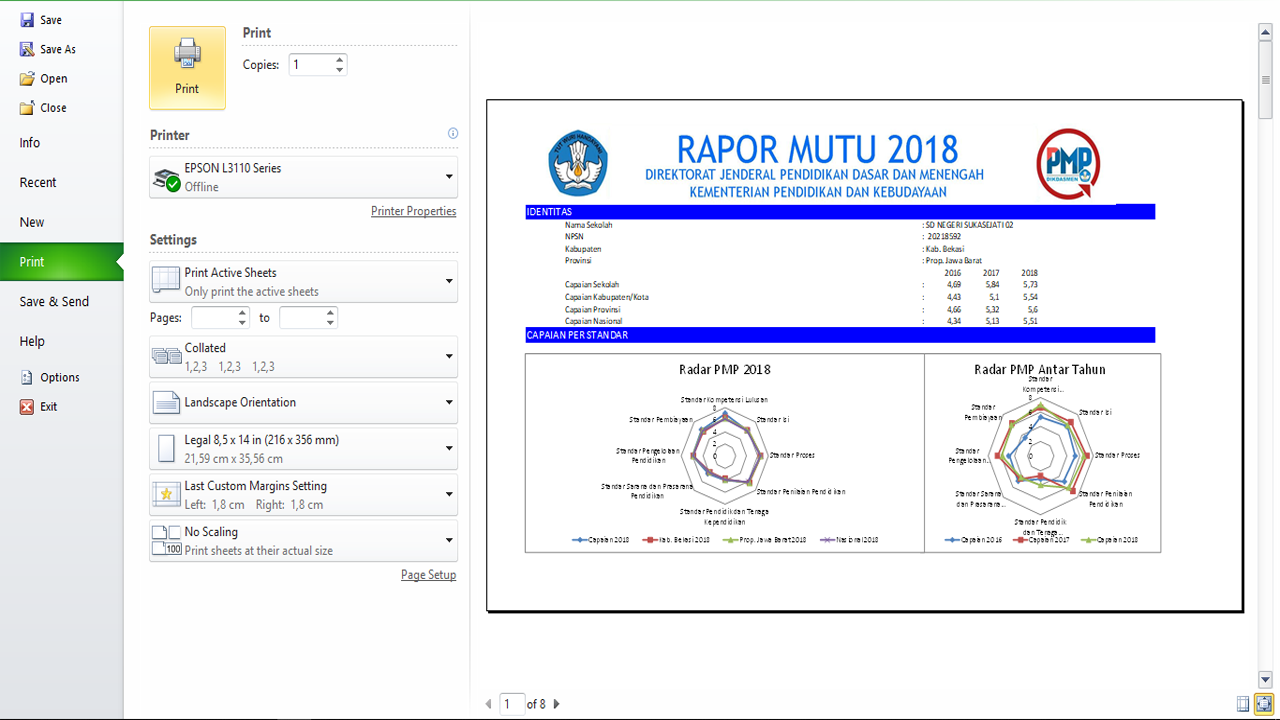 Download Rapor Mutu PMP Format Excel Terbaru
