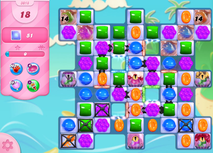 Candy Crush Saga level 3018
