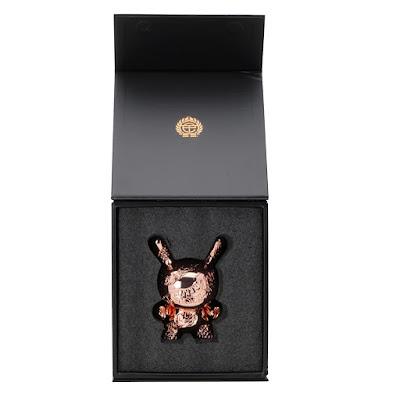 "New Money Rose Gold Edition 5"" Metal Dunny by Tristan Eaton x Kidrobot"