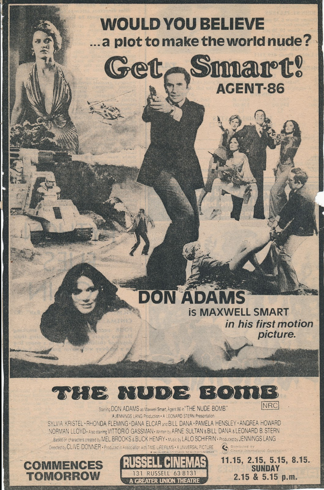 nude bomb 1980 movie the