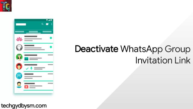 Deactivate WhatsApp Group Invitation Link