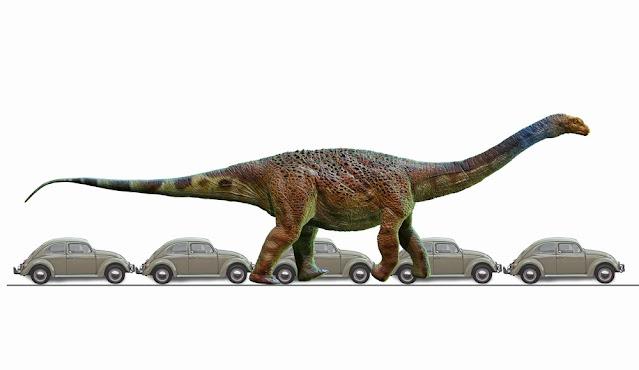 Arrudatitan maximus tinha o tamanho de 5 carros enfileirados