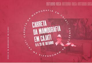 Cajati recebe a carreta da mamografia para o Outubro Rosa