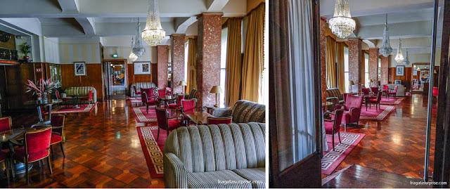 Sala de estar  do Hotel Astoria, Coimbra, Portugal