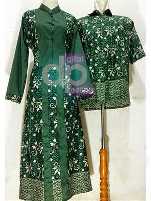 Model Gamis Batik Couple Lebaran Digital Posting