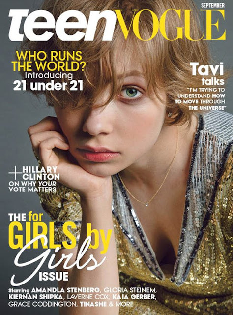 Actress, Singer, @ Tavi Gevinson for Teen Vogue US September 2016
