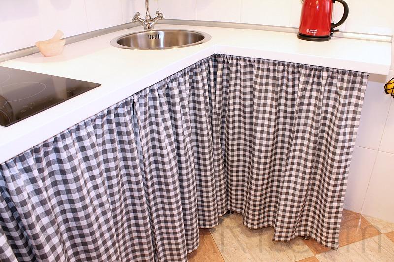 Decoraci n mi cocina shabby chic moli art beauty blog for Cortinas para muebles de cocina