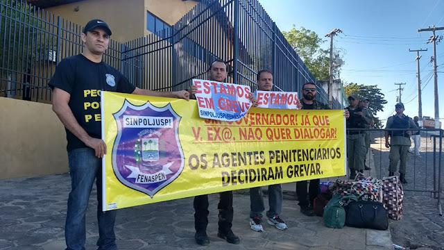 Agentes Penitenciários do Piauí em greve