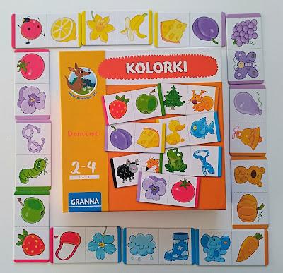 """""""Moje pierwsze gry"""": Kolorkowe domino [Granna]"""