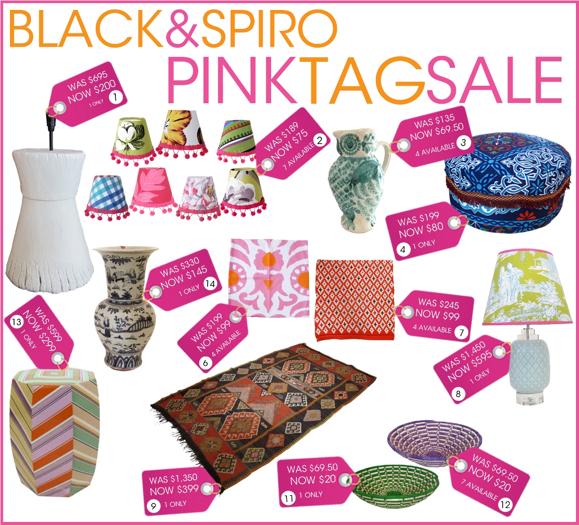Exciting Black Spiro Pink Tag