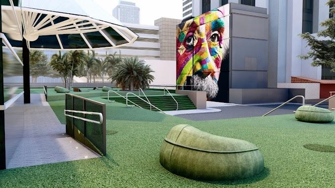WTC São Paulo inaugura Boulevard e apresenta um Sneak Preview do painel a céu aberto assinado por Eduardo Kobra