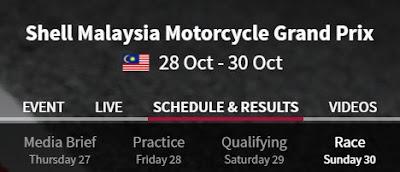 Jadwal MotoGP Sepang Malaysia 2016