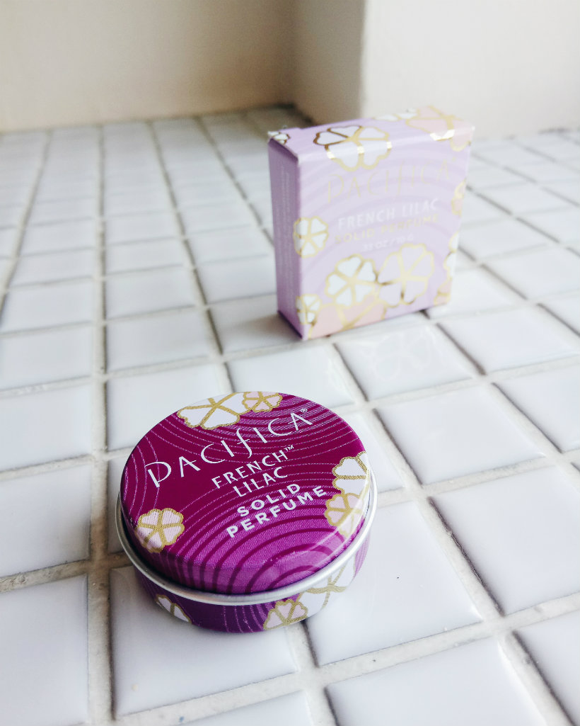 Pacifica solid perfume in French Lilac