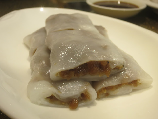 Steamed Rice Rolls with Preserved Turnip Filling