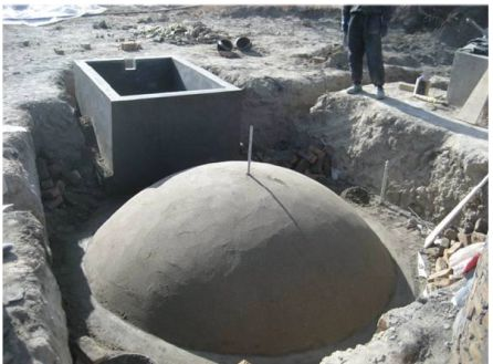Construction of Domestic Biogas Plant