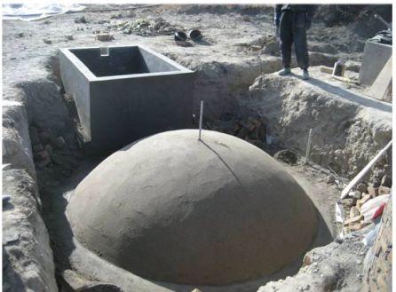 Construction of Domestic Biogas Plant
