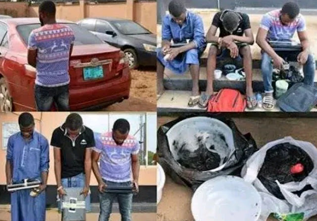 Charms 'JUJU' And Car Recovered From Yahoo Yahoo Boys In Ibadan