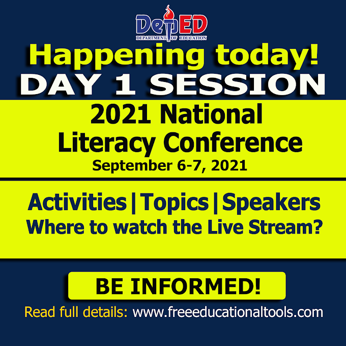Day 1 Session of 2021 National Literacy Conference | Topics and Speakers