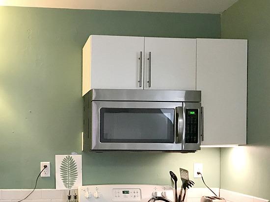 kitchen wall in DIY apartment kitchen