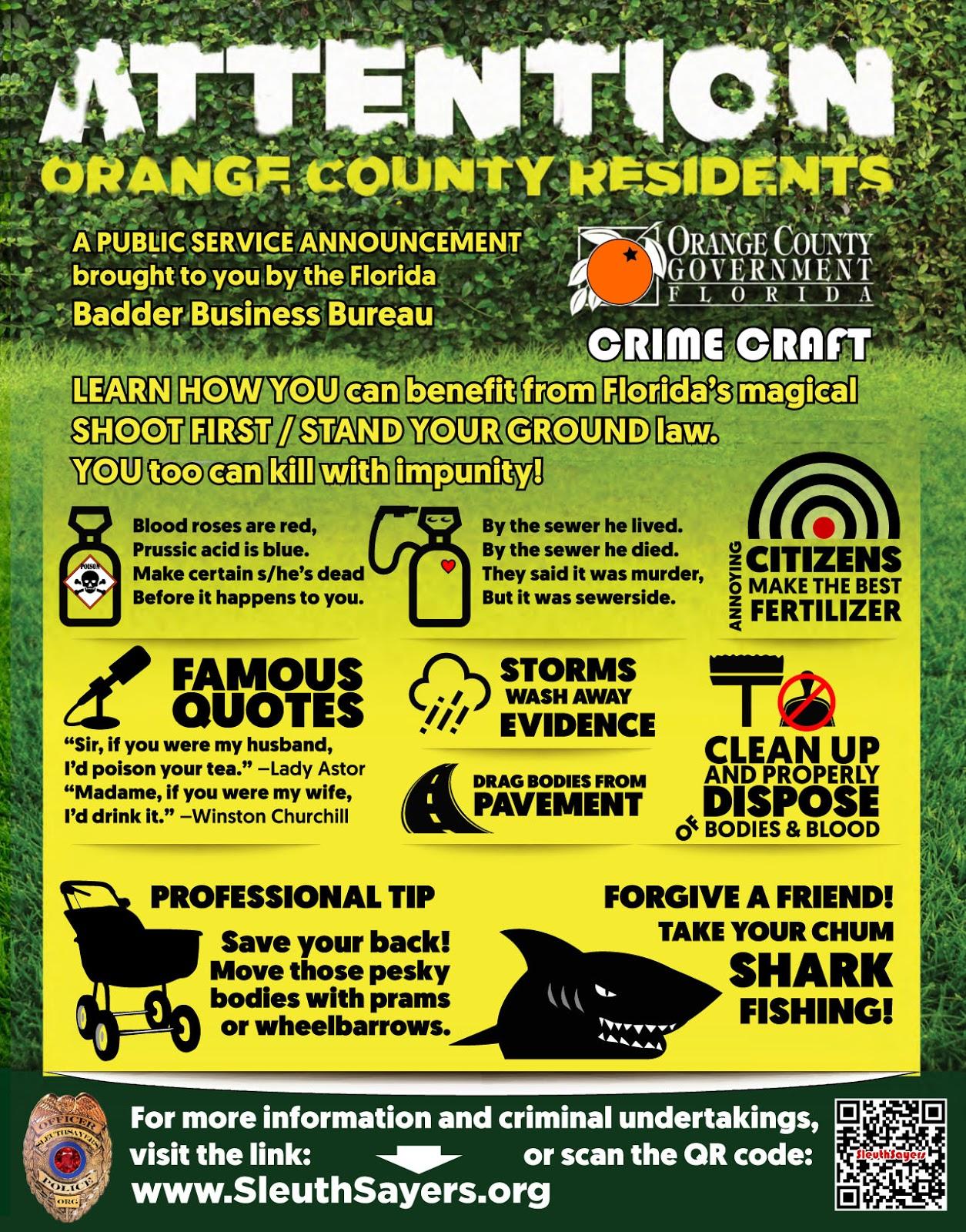 Florida crime craft poster