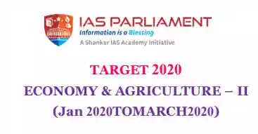 IAS Parliament Economy & Agriculture II PDF Download